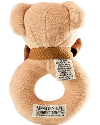 Maud N Lil Sonaglio ad Anello - Orsetto Miele - 100% Cotone Bio Sonagli