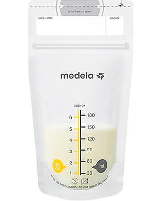 Medela Set Sacche per Conservare il Latte Materno da 180 ml - 25 pezzi Buste Conservalatte