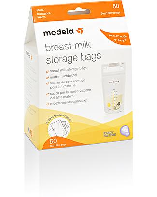 Medela Set Sacche per Conservare il Latte Materno da 180 ml - 50 pezzi Buste Conservalatte