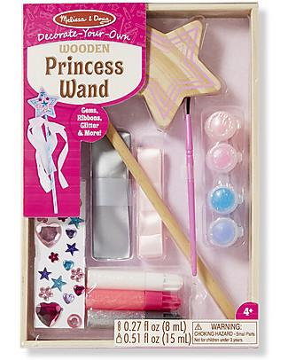 Melissa & Doug Bacchetta da Principessa in Legno da Decorare - Con glitter e gemme inclusi! Giochi Creativi
