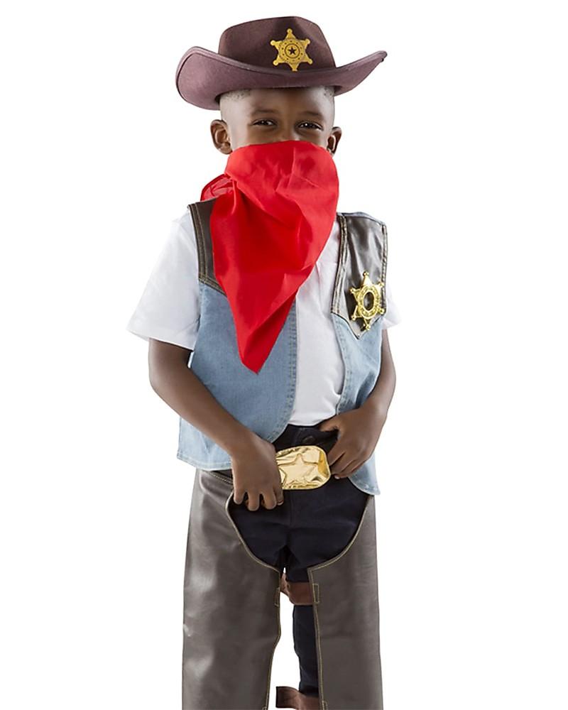 Melissa   Doug Costume da Cowboy - Perfetto per Carnevale e Feste in  Maschera - Cappello 9fe46c7896ac