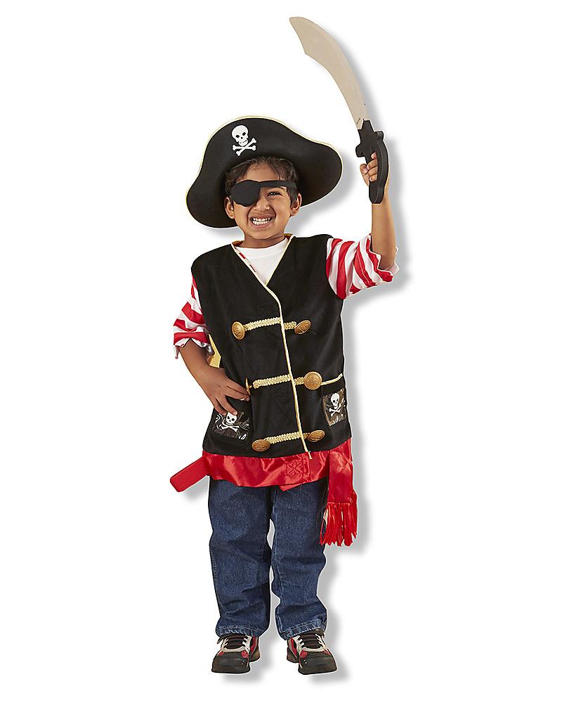 Melissa   Doug Costume da Pirata – Perfetto per Carnevale e feste in  maschera! Giochi b5f07e937271