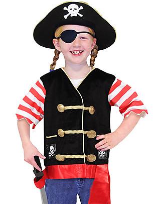 Melissa & Doug Costume da Pirata - Perfetto per Carnevale e feste in maschera! null