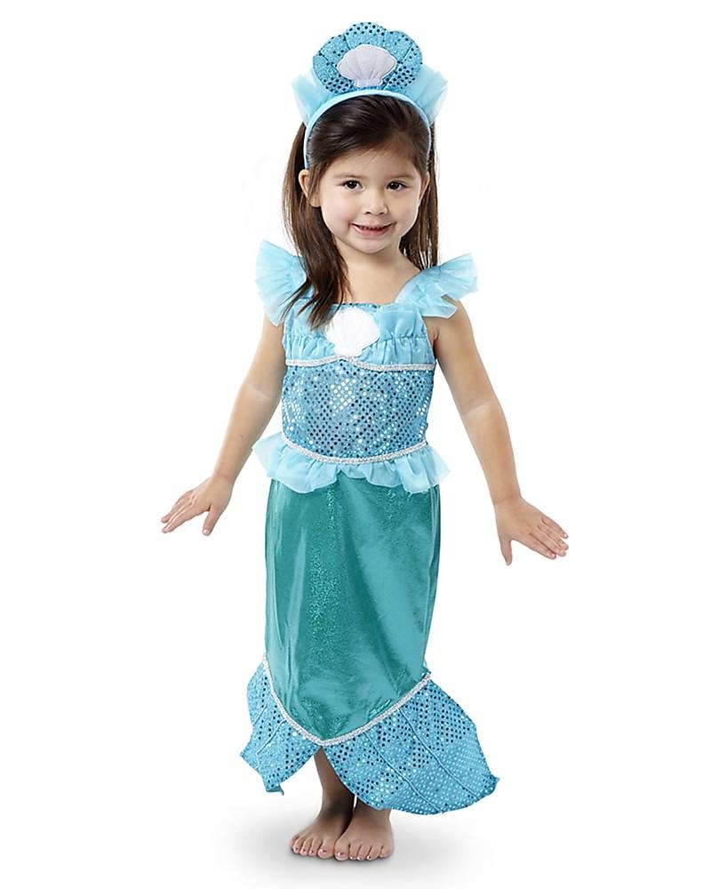 moda firmata Più affidabile negozio di sconto Melissa & Doug Costume da Sirenetta - Perfetto per Carnevale ...