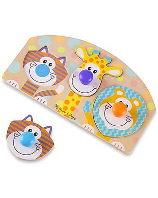 Melissa & Doug Puzzle Animali da Safari - Legno - 4 Pezzi Incastri In Legno