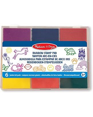 Melissa & Doug Set di inchiostri per timbri - 6 colori Adesivi e Timbri