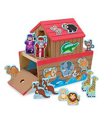 Melissa & Doug Set Gioco in Legno Arca di Noè, 29 pezzi - Ottima idea regalo! Giochi Per Inventare Storie