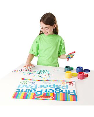 Melissa & Doug Set per Pittura con le Dita, 4 colori - Ottima idea regalo, Perfetto per Giochi All'Aperto! Colorare
