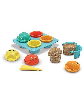 Melissa & Doug Set Spiaggia Cupcake, 12 pezzi - Ottima idea regalo! Giochi Da Spiaggia