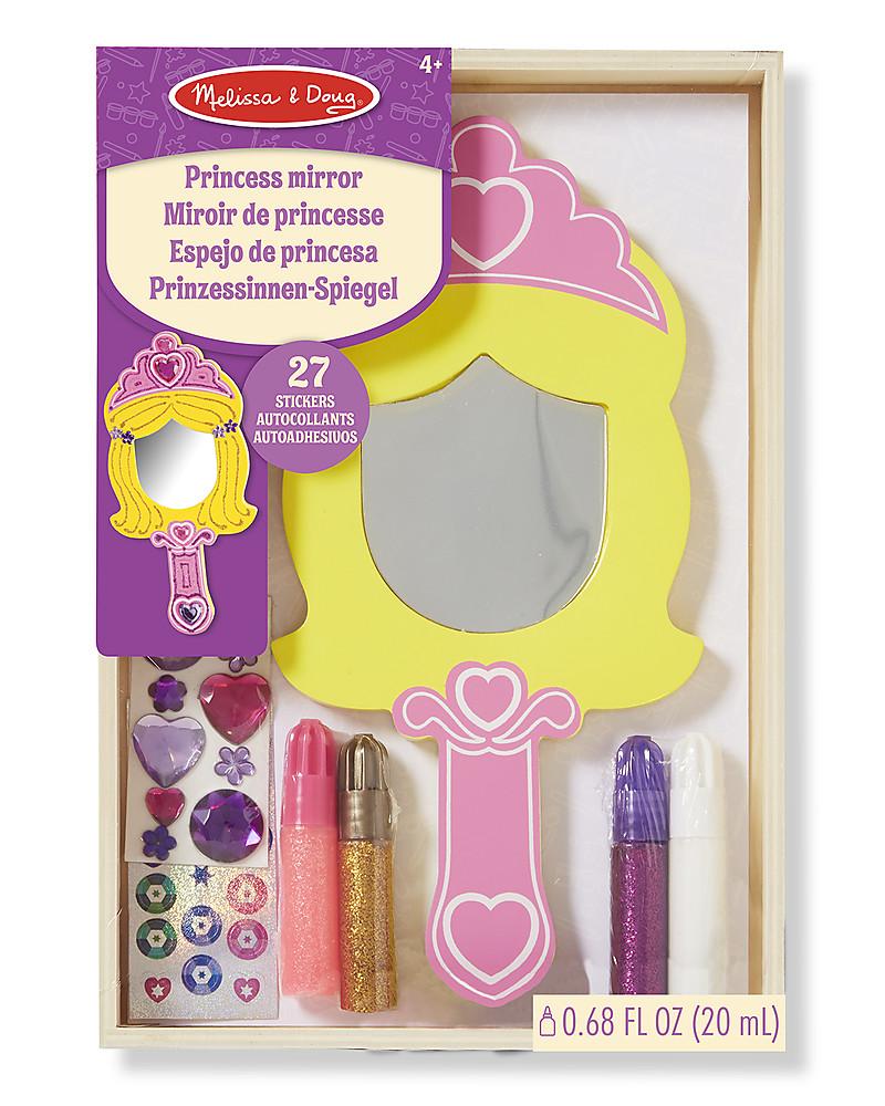 Melissa doug specchio in legno da decorare con glitter e adesivi inclusi bambina - Gioco specchio da decorare ...