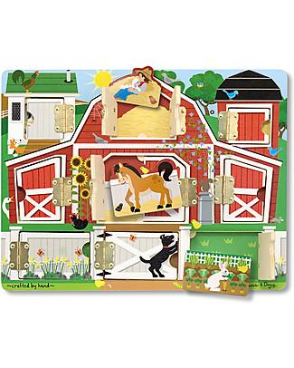 Melissa & Doug Tavola Magnetica - Nascondino con gli Animali della Fattoria - 9 Pezzi Puzzle
