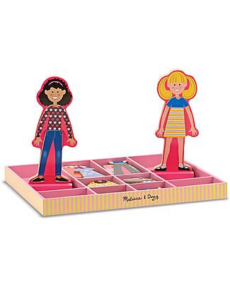 Melissa & Doug Abby & Emma - Bambole in Legno con Vestiti Magnetizzati  Giochi Per Inventare Storie