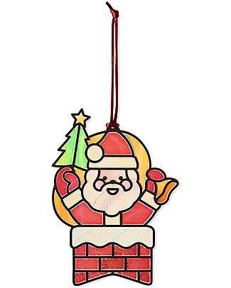 Melissa & Doug Adesivi Vetro Colorato - Kit Creativo Santa Claus - 35+ Adesivi! Adesivi e Timbri