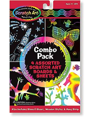 Melissa & Doug Album Artistico da Grattare - Combo pack da 4 pezzi! Giochi Creativi