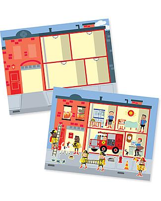 Melissa & Doug Album di Figurine Riutilizzabili, La mia città – Con oltre 200 adesivi! Giochi Creativi
