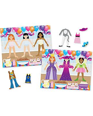 Melissa & Doug Album di Figurine Riutilizzabili, Vestiamo gli amici - Con oltre 165 figurine! Giochi Creativi