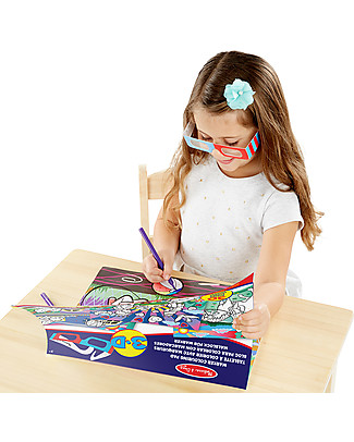Melissa & Doug Album per Colorare 3D - Bambine Colorare