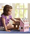 Melissa & Doug Casa delle Bambole in Legno Trasportabile Fold & Go - Personaggi inclusi! Case delle Bambole