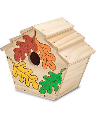Melissa & Doug Casetta per Uccellini da Assemblare e Dipingere – Ottima idea regalo! Giochi Creativi