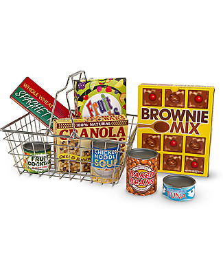 Melissa & Doug Cestino per la Spesa - Include Alimenti - 9 Pezzi Toy Kitchens & Play Food