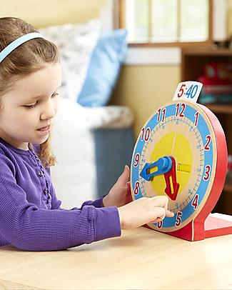 Melissa & Doug Che ora è? – Orologio in legno per imparare a leggere l'ora! Giochi Creativi