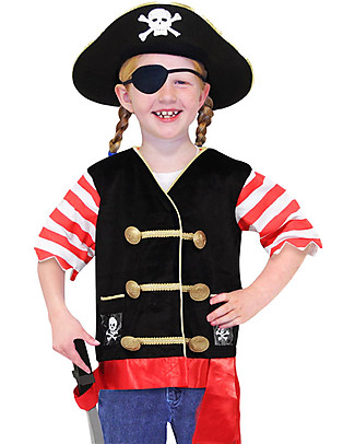 Melissa & Doug Costume da Pirata – Perfetto per Carnevale e feste in maschera! Giochi Creativi