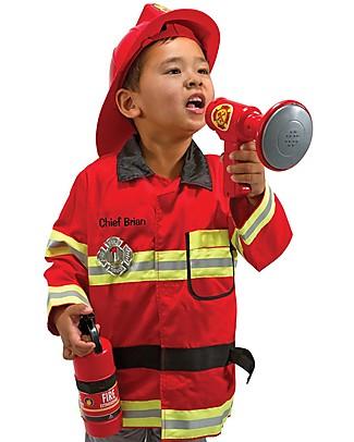 Melissa & Doug Costume da Pompiere – Perfetto per Carnevale e feste in maschera! Travestimenti