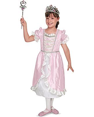 Melissa & Doug Costume da Principessa, Rosa – Perfetto per Carnevale e feste in maschera! Travestimenti