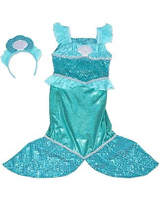 Melissa & Doug Costume da Sirenetta - Perfetto per Carnevale e Feste in Maschera - Tiara a Conchiglia Inclusa! Travestimenti