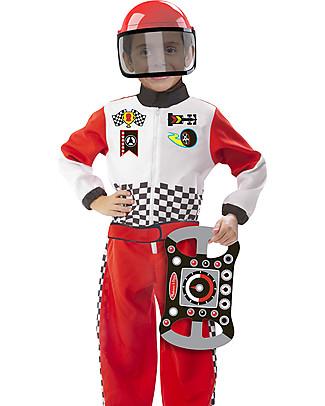Melissa & Doug Costume Pilota di Formula 1 Travestimenti