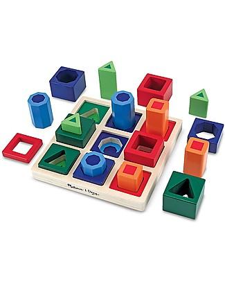 Melissa & Doug Forme geometriche da incastrare in sequenza - Legno Giochi Creativi