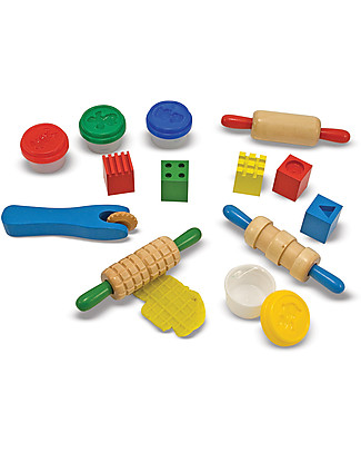 Melissa & Doug Kit Shape Model & Mould - Include pongo, 5 timbri e 4 strumenti - Ottima idea regalo! Kit Fai Da Te