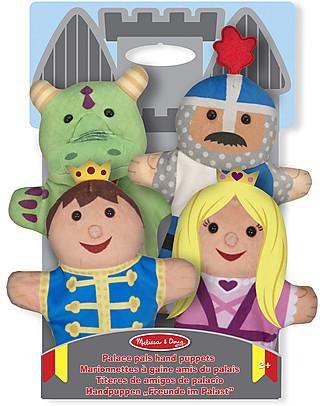 Melissa & Doug Marionette Amici del Palazzo, 4 Personaggi - Perfetti come idea regalo! Burattini