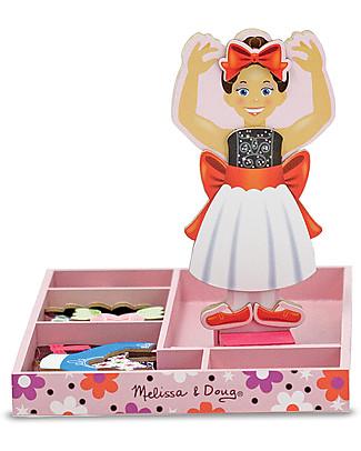 Melissa & Doug Nina Ballerina - Bambola in Legno con Vestiti Magnetizzati  Giochi Per Inventare Storie