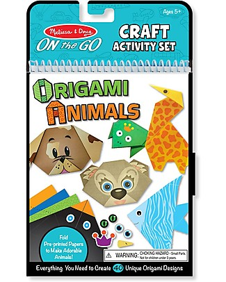 Melissa & Doug Origami On the Go, Animali – 40 animali differenti, 3 livelli di difficoltà! Kit Fai Da Te