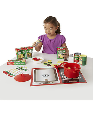 Melissa & Doug Pasta Play Set, Oltre 50 pezzi - Ottima idea regalo! Giochi Per Inventare Storie