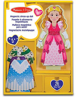 Melissa & Doug Principessa Elisa - Bambola in Legno con Vestiti Magnetizzati  Giochi Per Inventare Storie