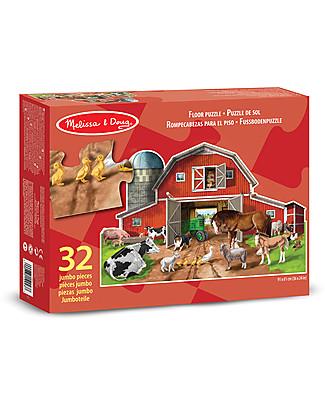 Melissa & Doug Puzzle Animali della Fattoria - 32 pezzi giganti! Puzzle