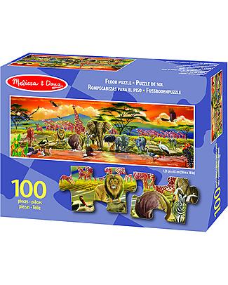 Melissa & Doug Puzzle da Pavimento Safari - 100 Pezzi Puzzle