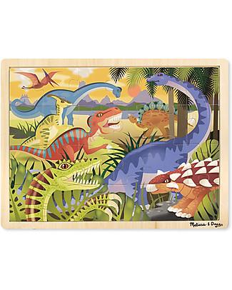 Melissa & Doug Puzzle Dinosauri - Legno - 24 Pezzi Puzzle
