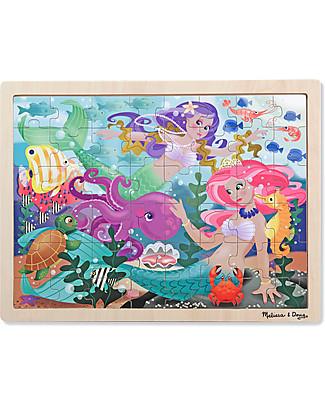 Melissa & Doug Puzzle in Legno - Mare delle Sirene - 48 Pezzi - Perfetta idea regalo!  Puzzle