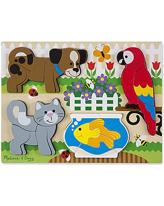 Melissa & Doug Puzzle in Legno Pezzi Grandi, Animali – 20 pezzi Puzzle
