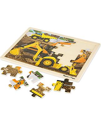 Melissa & Doug Puzzle in Legno Scavatori al Lavoro - 24 Pezzi Puzzle