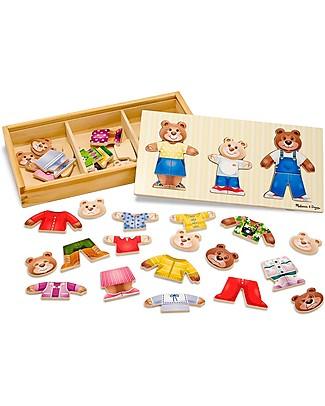 Melissa & Doug Puzzle in Legno, Vestiamo gli Orsetti - 45 pezzi! Puzzle