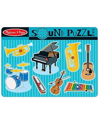 Melissa & Doug Puzzle Musicale in Legno - Strumenti Musicali Puzzle