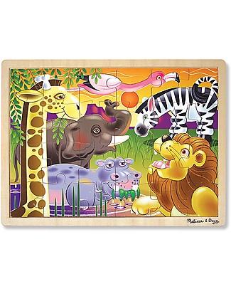 Melissa & Doug Puzzle Savana Africana - Legno - 24 Pezzi Puzzle