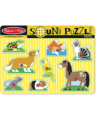 Melissa & Doug Puzzle Sonoro Animali - 8 Pezzi Puzzle