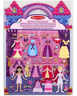 Melissa & Doug Reusable Puffy Stickers - Princesses - 67 Stickers Art & Craft Kits