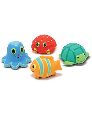 Melissa & Doug Seaside Squirters Giocattolo Acquatico - 4 Animali per Schizzare l'acqua - Perfetto per la Spiaggia! Giochi Da Spiaggia