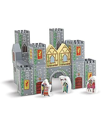 Melissa & Doug Set Castello in Legno, 28 pezzi con scatola - Ottima idea regalo!  Giochi Per Inventare Storie